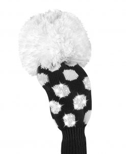 just4golf sparkle black white dot fairway golf headcover