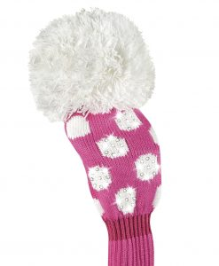 just4golf sparkle pink white dot fairway golf headcover