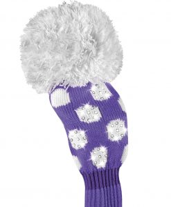 just4golf sparkle purple white dot fairway golf headcover