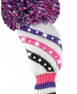just4golf pink purple black white fairway golf headcover