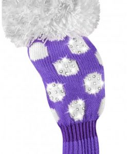 just4golf purple white dot fairway golf headcover