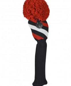just4golf red black white stripe fairway golf headcover