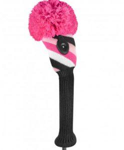 just4golf pink black white fairwau golf headcover