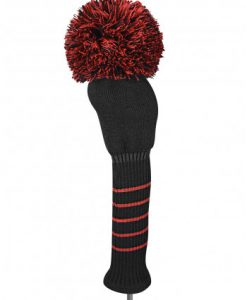 just4golf red black solid driver golf headcover
