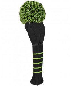 just4golf green black solid driver golf headcover