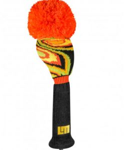 just4golf loudmouth shagadelic black driver golf headcover