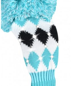 just4golf sparkle turquoise black white diamond fairway golf headcover