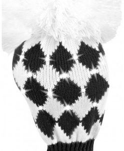 just4golf sparkle black white diamond driver golf headcover