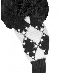 just4golf sparkle black white diamond fairway golf headcover