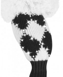 just4golf sparkle black white diamond hybrid golf headcover