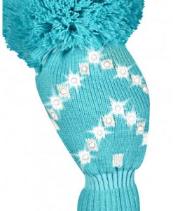 just4golf sparkle turquoise white chevron driver golf headcover