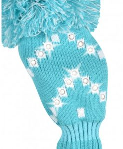 just4golf sparkle turquoise white chevron fairway golf headcover