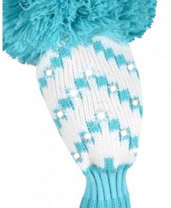 just4golf sparkle white turquoise chevron hybrid golf headcover
