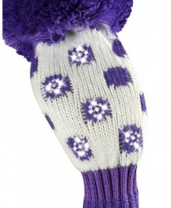 just4golf sparkle purple white dot hybrid golf headcover