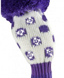just4golf sparkle purple white dot hybrid golf headcover