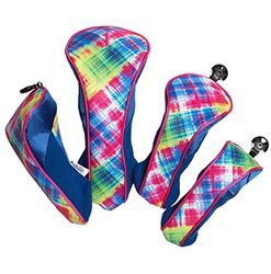 gloveit electric plaid golf headcovers