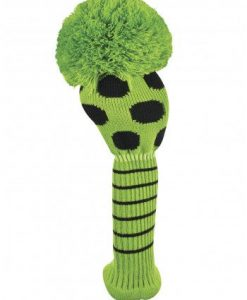 just4golf lime black dot driver golf headcover