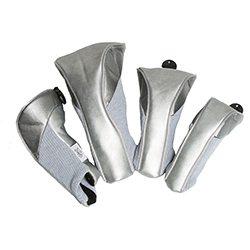 gloveit silver suede golf headcovers