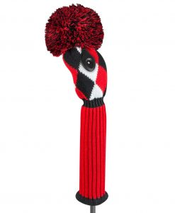 j4g red black white diamond fairway golf headcover