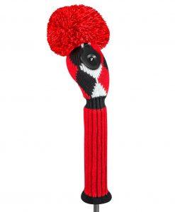 j4g red black white diamond hybrid golf headcover