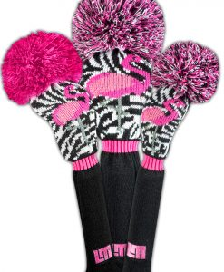 Loudmouth Savage Flamingos Golf Headcover Set