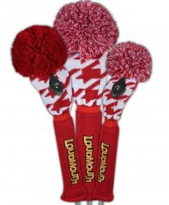 loudmouth red tooth golf headcover set