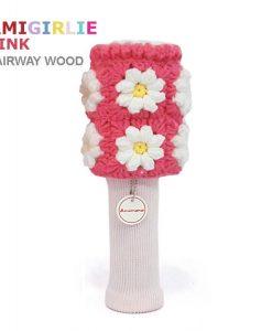 AmiGirlie pink fairway golf headcover