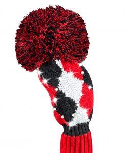 just4golf red black white diamond fairway golf headcover
