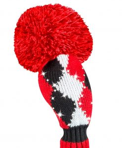 just4golf sparkle red black white diamond hybrid golf headcover