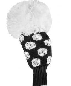 just4golf luxe black white medium dot fairway golf headcover