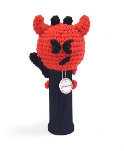 devil red hybrid golf headcover