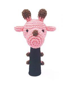 amimono giraffe pink hybrid golf headcover