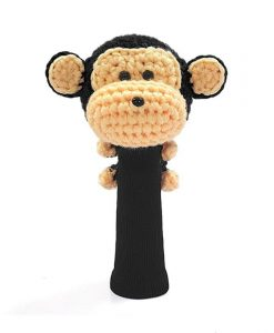 amimono monkey black hybrid golf headcover