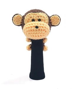 monkey brown hybrid golf headcover