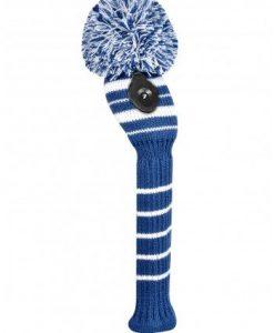 Engineered Stripe Navy-white hybrid golf headcover
