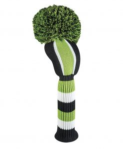 Lime Black Vertical Stripe Driver Golf Headcover