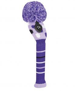 Small Multi Dot Purple Hybrid Golf Headcover