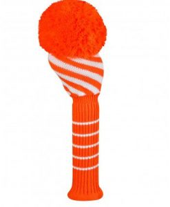 Orange/White Wide Diagonal Stripe Driver Golf Headcover