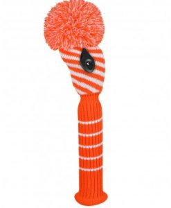 Orange/White Diagonal Stripe Fairway Golf Headcover