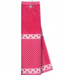Pink Towel with Ribbon