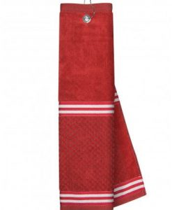 Red Towel with Ribbon