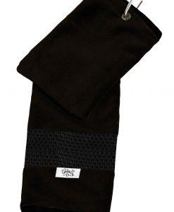 gloveit black mesh golf towel