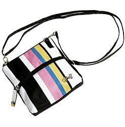 gloveit cabana stripe 2 zip carry all bag
