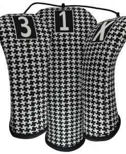classic hounds-tooth golf headcovers
