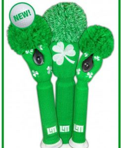 just4golf loudmouth shamrocks golf headcover set