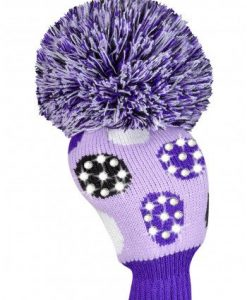 Sparkle Large Multi Dot Purple Driver Golf Headcover