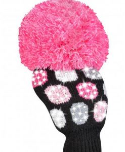 Luxe Pink White Large Dot Driver Golf Headcover