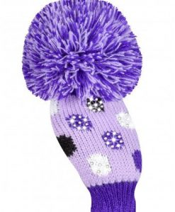 Sparkle Small Multi Dot Purple Hybrid Golf Headcover