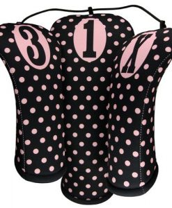 beejos pink polka dots golf headcovers