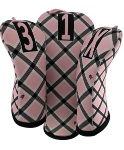 beejos cotton candy plaid golf headcovers